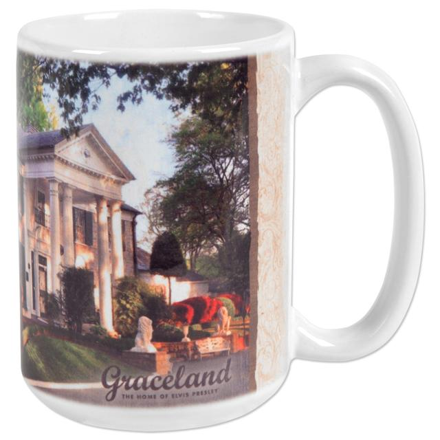 Elvis Graceland 15oz White Mug