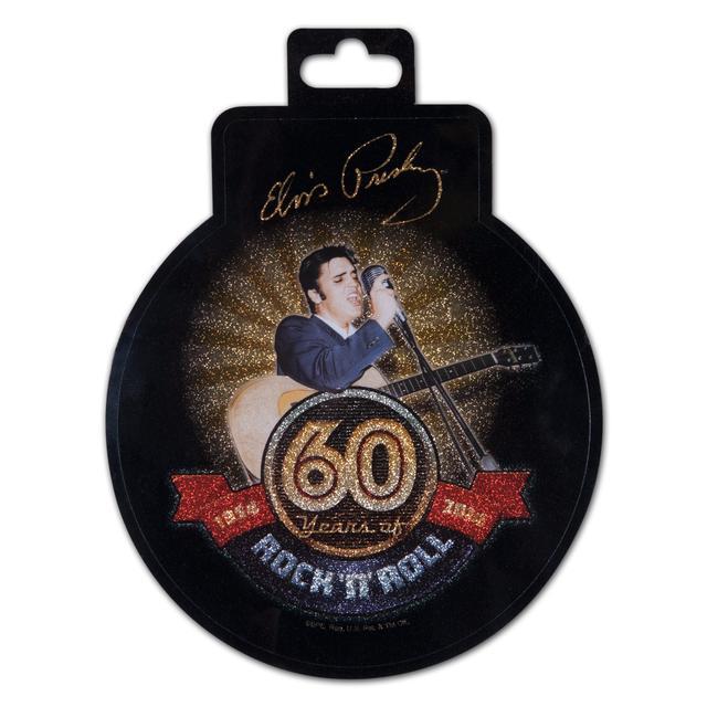 Elvis 60th Anniversary Rock N Roll Decal Glitter