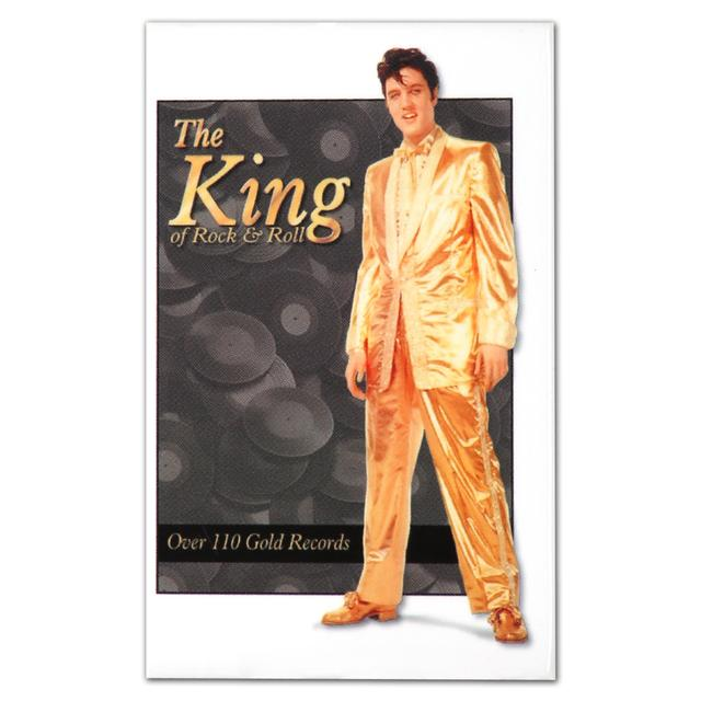 Elvis Presley The King of Rock & Roll Gold Magnet