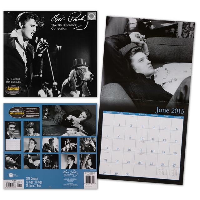 Elvis Wertheimer Collection 2015 Wall Calendar