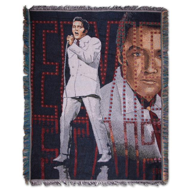 Elvis If I Can Dream Tapestry Throw