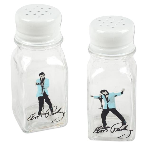 Elvis - Glass White & Blue S&P Shakers