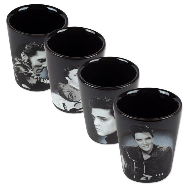 Elvis - 4 pc. Ceramic Shot Glasses