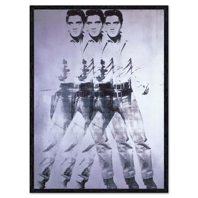 Triple Elvis 1963 Andy Warhol Art Block Framed Print