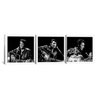"Elvis '68 Special 3 pc. Canvas Print 16""x 48"""