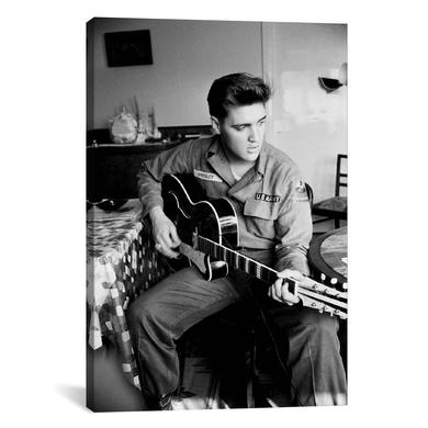 "Elvis US Army Canvas Print 40"" x 26"""