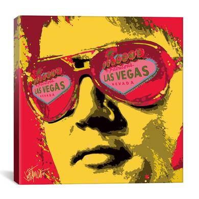 "Elvis Viva Las Vegas Canvas Print by Joe Petruccio 18"" x 18"""