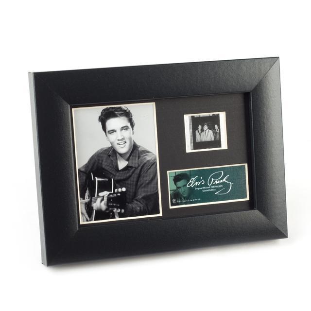 Elvis and His Guitar Framed Filmstrip Presentation