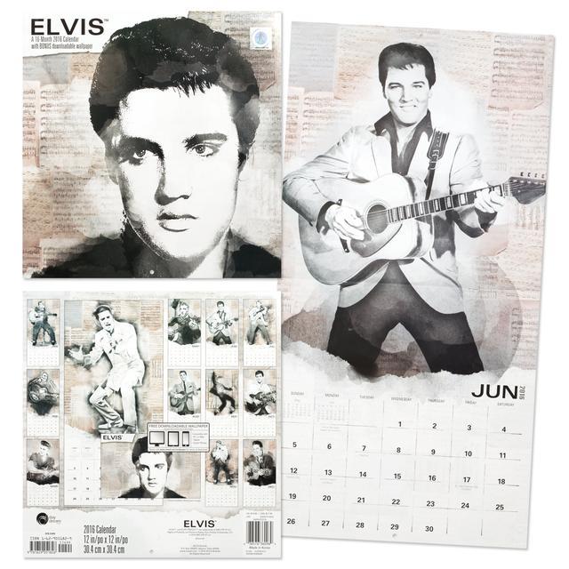 Elvis 2016 Retro Wall Calendar