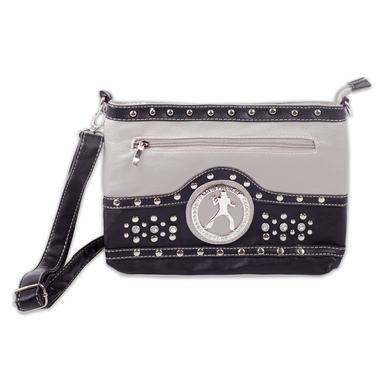 Elvis Silhouette Cross Body Bag - Grey