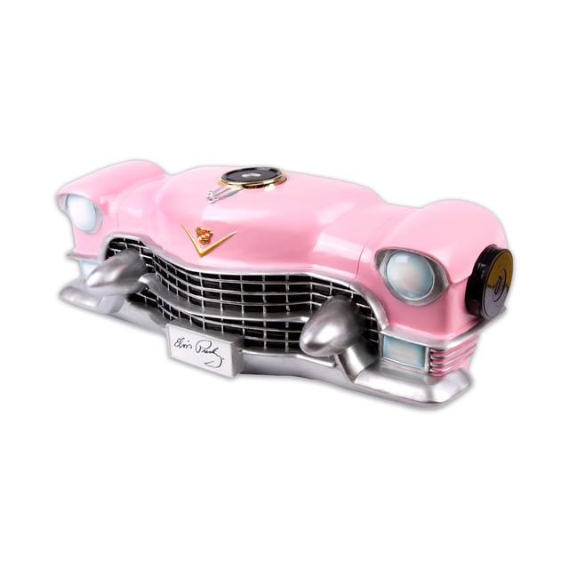 Elvis Pink Cadillac Front Wall décor w/ Bluetooth Music Player, w/o Lights
