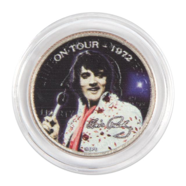 """Elvis Presley """"On Tour - 1972"""" Colorized State Quarter Coin"""