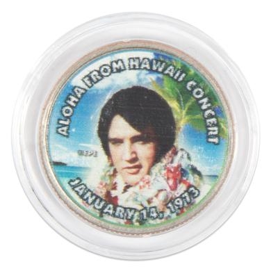 "Elvis Presley ""Aloha From Hawaii Concert"" Colorized State Quarter Coin"