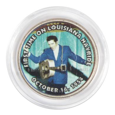 """Elvis Presley """"First Time on Louisiana Hayride"""" Colorized State Quarter Coin"""