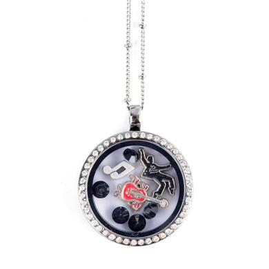 Elvis Floating Charm Necklace - Jailhouse Rock