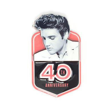 Elvis 2017 40th Anniversary Badge Magnet