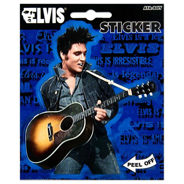 Elvis Rocking Guitar Sticker