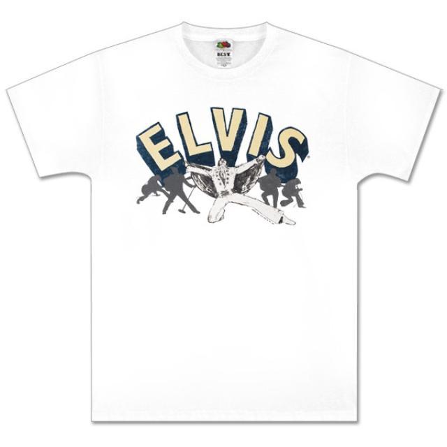 Flying Elvis White T-shirt