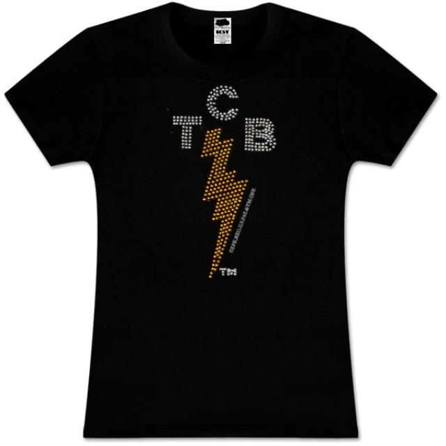Elvis TCB Rhinestone Black Babydoll