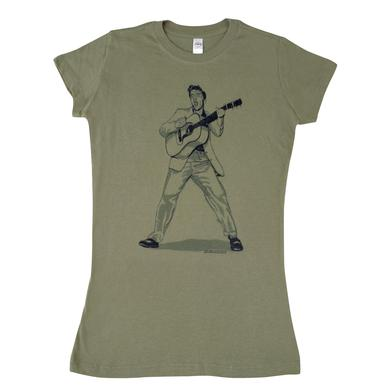Elvis Swinging Guitar Girl's T-shirt