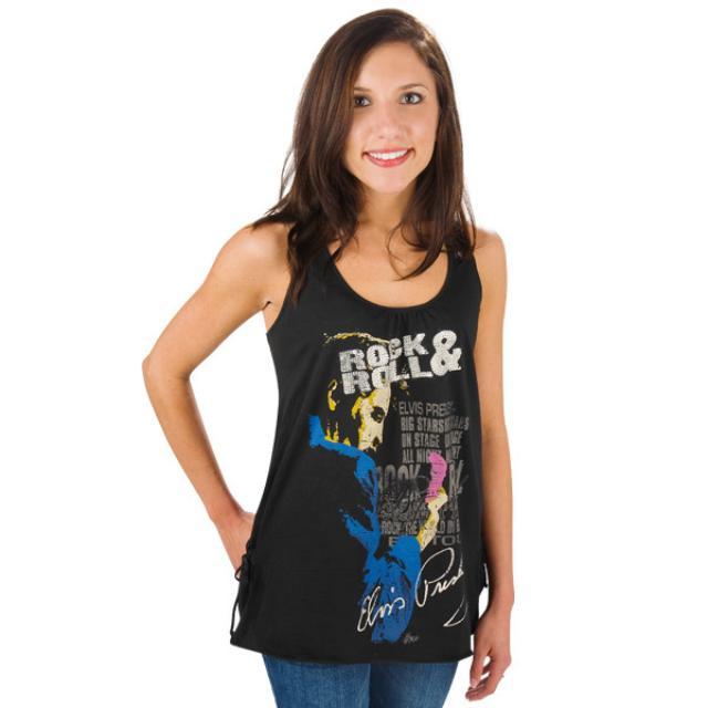 Elvis Rock n Roll Racerback Tank