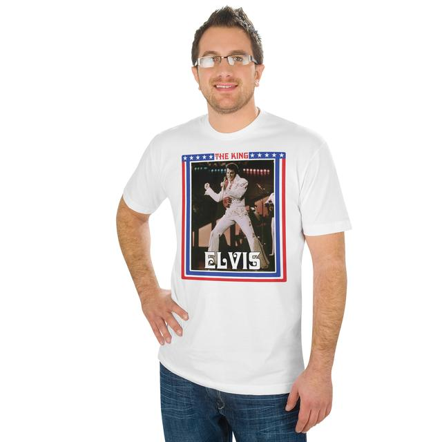 Elvis Red White Blue King T-Shirt