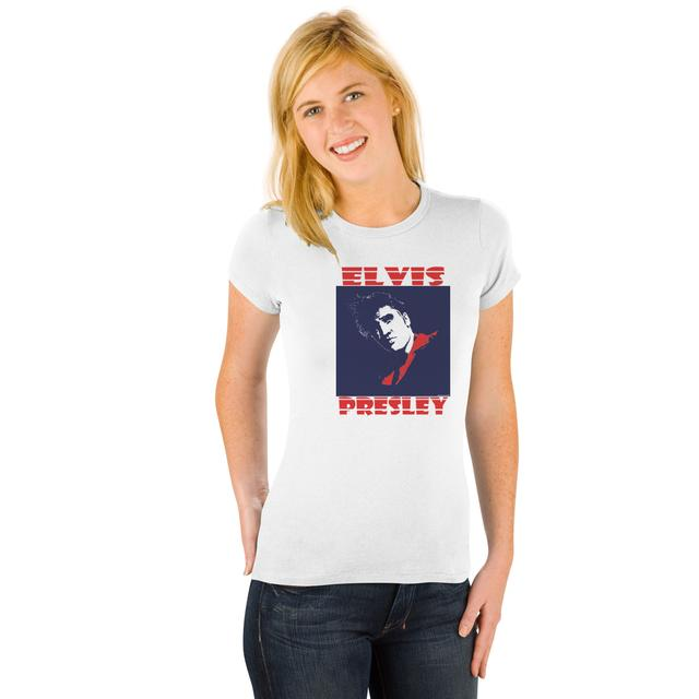 Elvis American Square Ladies T-Shirt