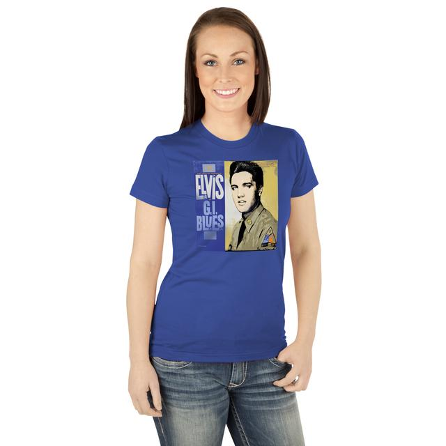 Elvis GI Blues Cover Ladies T-Shirt