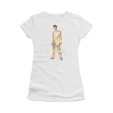 Elvis Gold Lame Suit Women'S Sheer T-Shirt