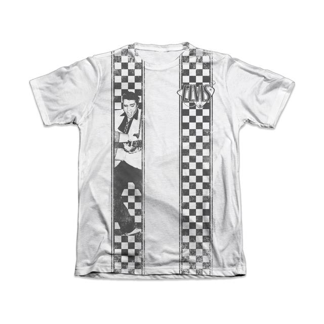 Elvis Checkered Bowling Shirt