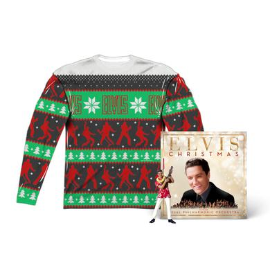 Christmas with Elvis Album + T-Shirt + Ornament Bundle