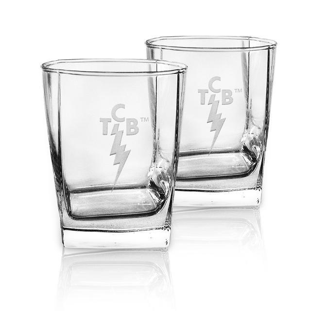Elvis TCB Deep-Etched DOR 13oz. Glasses Set of 2