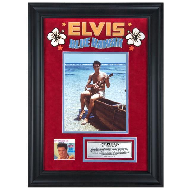 "Elvis Blue Hawaii 16"" x 23"" Framed Presentation"