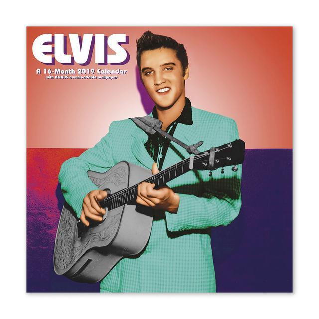 """Elvis Presley Presley 12"""" x 12"""" 2019 Wall Calendar"""