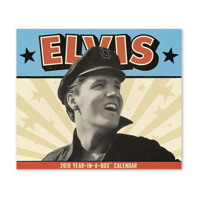 "Elvis Presley Presley 5"" x 4.37"" 2019 Year-In-A-Box Calendar"