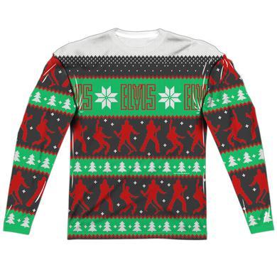 Elvis Ugly Christmas Long Sleeve T-Shirt