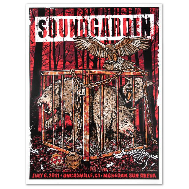 Soundgarden Caged Wolves Print