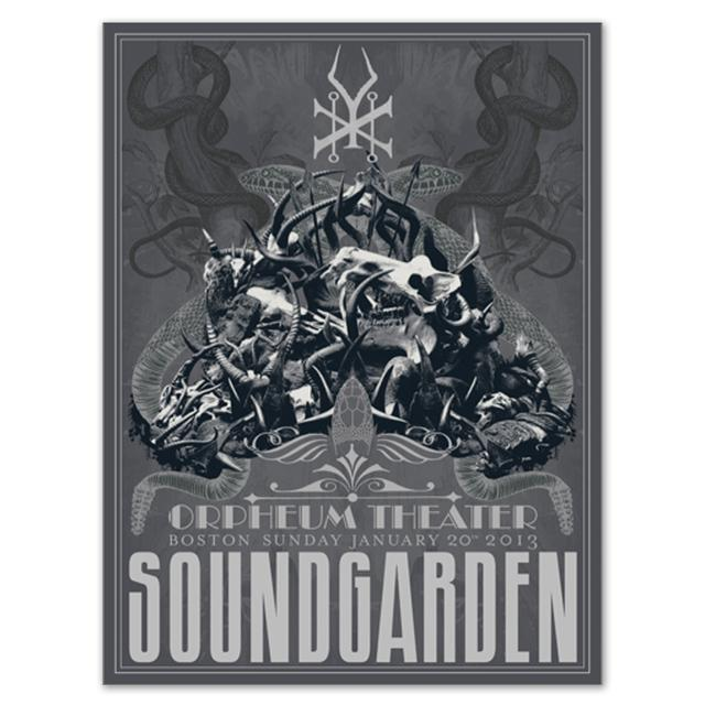 Soundgarden Boston MA Limited Edition Print
