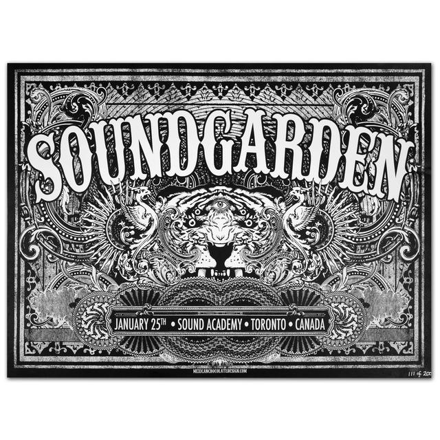 Soundgarden 01/25th Sound Academy Toronto Canada Print