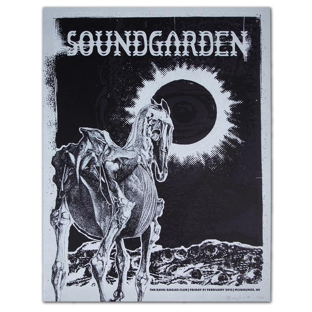 Soundgarden Feb 2013 Milwaukee, WI. Show Print
