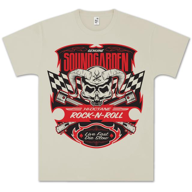 Soundgarden Racer Flags Skull T-Shirt
