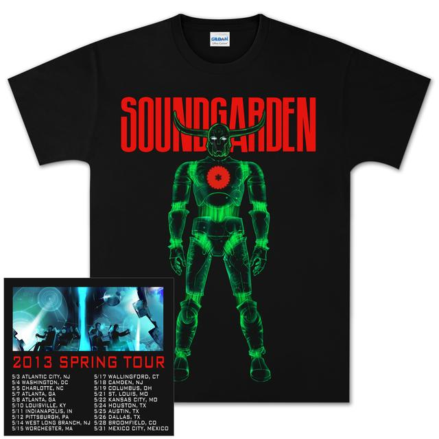 "Soundgarden ""Robotic Viking"" Spring 2013 Tour T-Shirt"