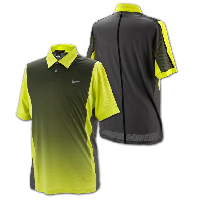 Tiger Woods TW Green Grass Print Polo