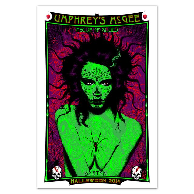 Umphrey's Mcgee UM Halloween Poster by Adam Pobiak