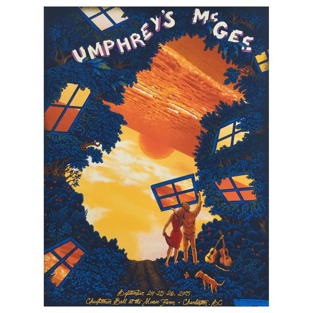 "Umphrey's Mcgee James Flames ""Chucktown Ball"" Print"