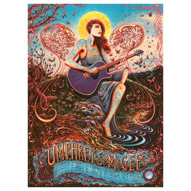 Umphrey's Mcgee Miles Tsang Summer 2016 Tour Poster