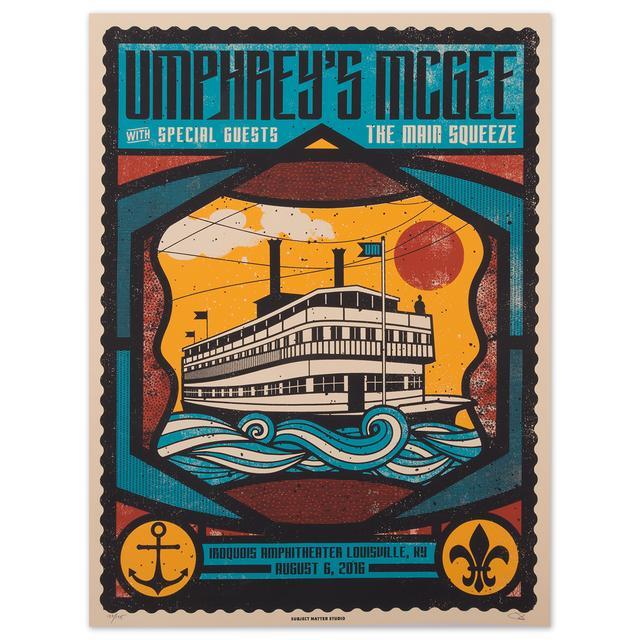 Umphrey's Mcgee Louisville 2016 Print by Subject Matter Studio