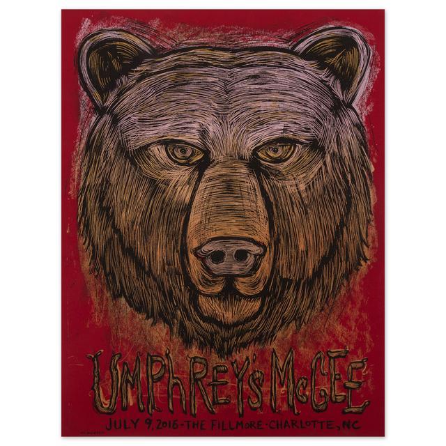 Umphrey's Mcgee Fillmore Charlotte 2016 Print by Dan Grzeca