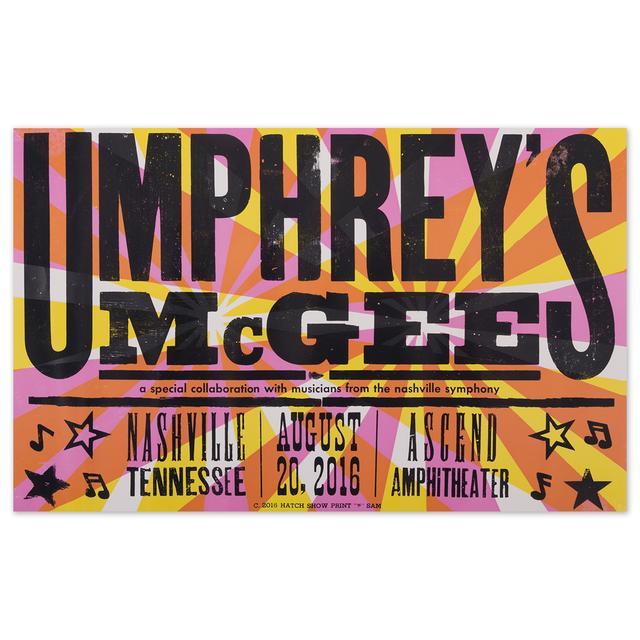 Umphrey's McGee - 8/20/16 - Nashville, TN Event Poster