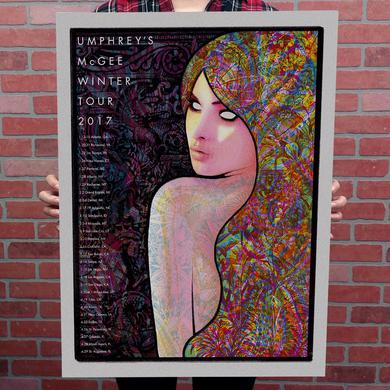 Umphrey's Mcgee 2017 Winter Tour Poster by Baker Prints